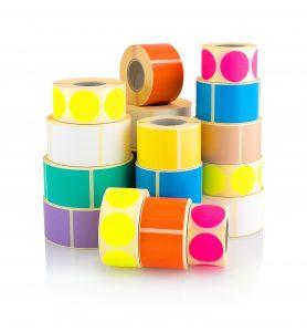 Etichette autoadesive colorate